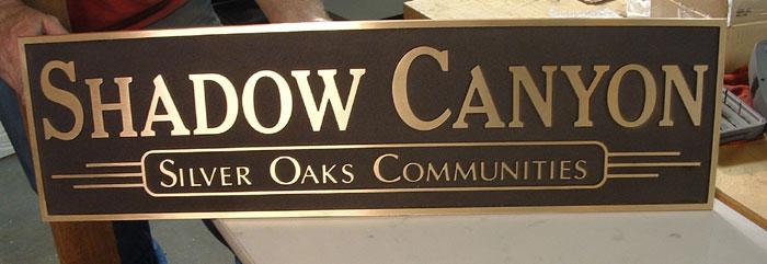 Shadow Canyon Bronze Plaque