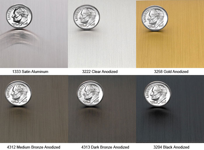 Image of the standard metal finishes