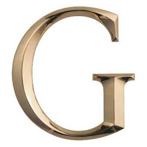 A superbly polished abd prismatic bronze letter G