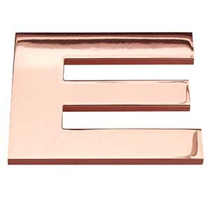 Polished copper letter
