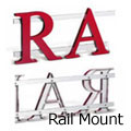 Picture of how to mount cast metal letters on double rails