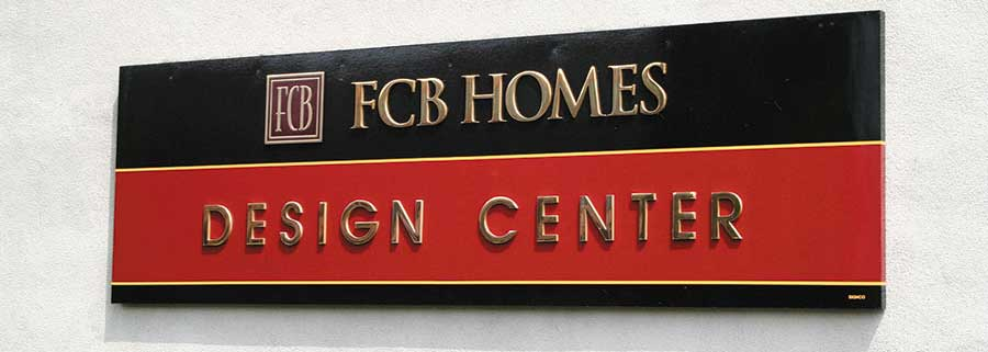 Cut polished Brass letters for FCB Homes
