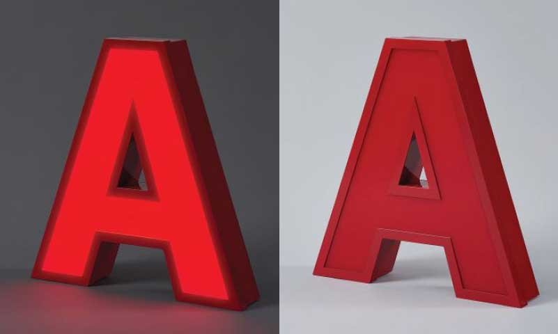 Custom Aluminum Channel Letters Large Metal Letters With