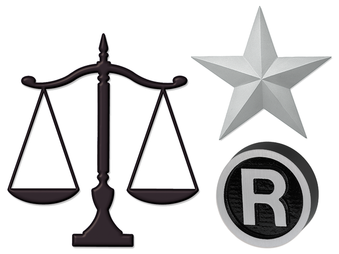 Scales of Justice, Registered Mark and Prismatic Star