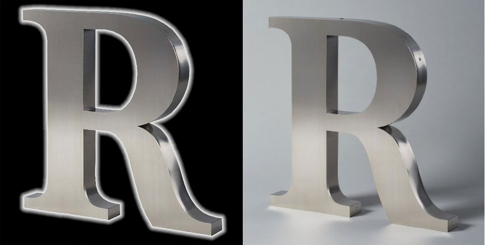 Bronze Letters For Sale Stainless Steel Led Lit Sign Letters For A Halo Effects