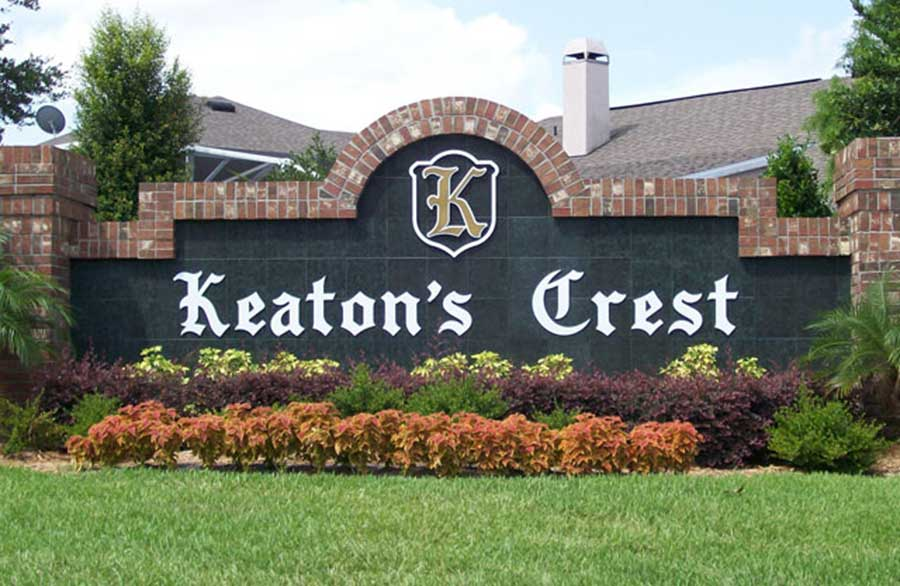 Keaton's Crest subdivision at Hunter's Creek in Florida