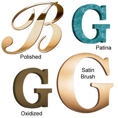 Bronze Metal Letters