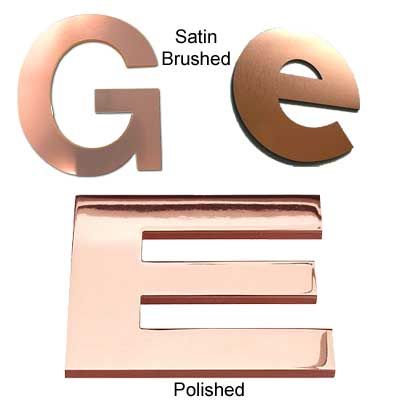 Copper Metal Letters