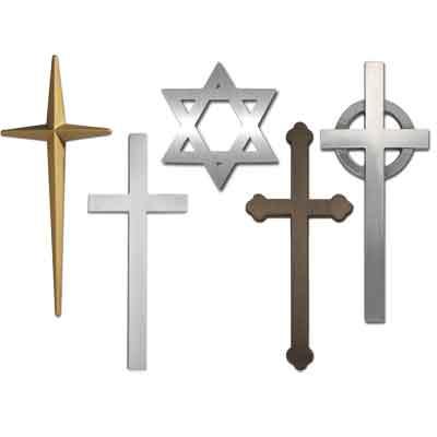 Cast metal religious symbols