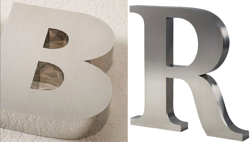 Fabricated reverse channel sign letters