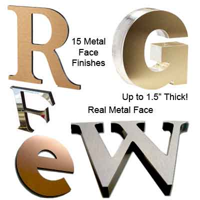 Metal on acrylic display Letters