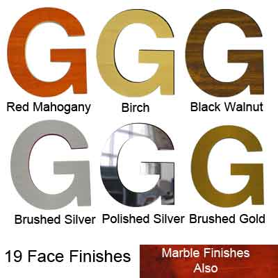Gemleaf Metal face finished Letters